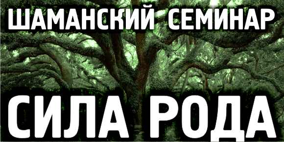 Шаманский семинар  «СИЛА РОДА».